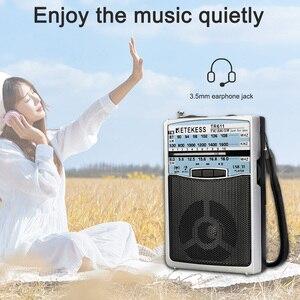 Image 4 - Retekess TR611 휴대용 FM AM SW 3 밴드 라디오 이어폰 잭 USB TF 플레이어 지원 MP3 형식