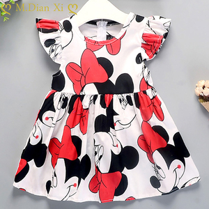 Baby Clothing Baby Girls Dresses Summer New Baby Girl Female Cotton Dress Baby Cotton Floral Princess Tutu Dresses(China)