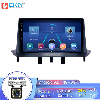 EKIY 8Core 4G LTE 9 IPS DSP Android 9.0 For Renault Megane 3 2008-14 Car Radio Multimedia Player GPS Navigation Stereo No 2 Din image