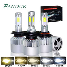 PANDUK 72W Car Headlight 4300K 6000K 8000K 12000LM H1 H8 H4 Led Bulb 12V S2 H3 H7 H11 Led 9007 Bulbs Super Bright lamp Car Light(China)
