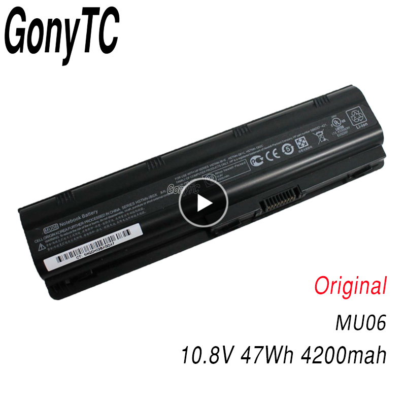 Original Laptop Battery For HP MU06 593562-001 593553-001 for Compaq Notebook 593554-001 593554-001 for Pavilion G6 G7 Dv5 image