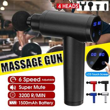LCD Display Muscle Electric Massage Guns Deep Tissue Massager Cordless Percussion Massager Vibrator Body Pain Relaxation Machine
