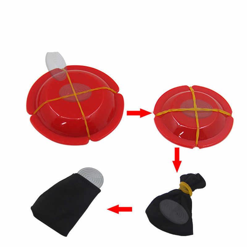 1 PC Magic Trick Magic เหรียญ UFO หายไป Re-emergence แสงผ่าน Close-up เวทีแสดงของเล่นที่น่าสนใจ