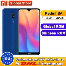 Globale ROM Xiaomi Redmi 8A 3GB 32GB Smartphone Snapdargon 439 Octa core 12MP AI Kamera 5000mAh Typ -C