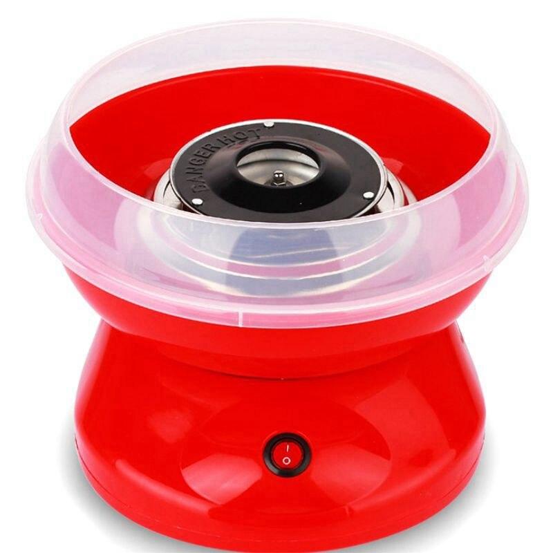 Top Deals Eu Plug 220V Electric Cotton Candy Machine Sugar Cotton Candy Maker Party Diy Red
