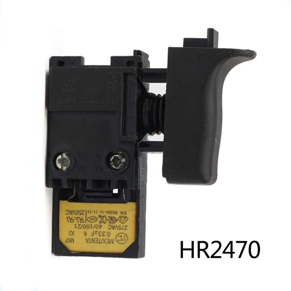 For Makita HR2470 Switch Electric Hammer Black Drill Speed Replacement