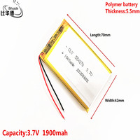 Good Qulity 3.7V,1900mAH 554270 Liter energy battery Polymer lithium ion / Li-ion battery for tablet pc BANK,GPS,mp3,mp4