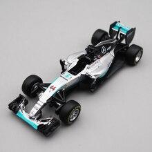 Bburago 1/43 1:43 2016 W07 Lewis Hamilton No44 formülü 1 araba yarışı döküm vitrin modeli oyuncak çocuklar için erkek kız