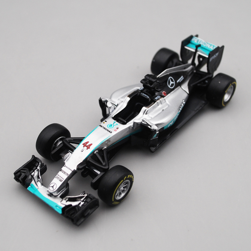 Bburago 1/43 1:43 2016 W07 Mercedes Benz Lewis Hamilton No44 Formula 1 Racing Car Diecast Display Model Toy For Kids Boys Girls