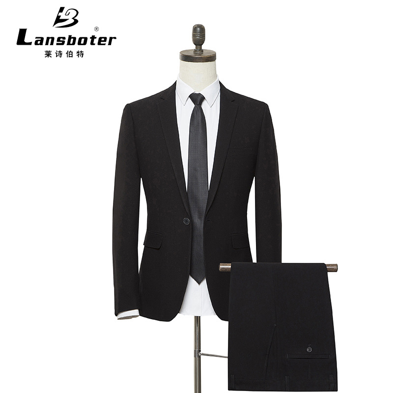 Lansboter Boutique Suit Business Men Suit Korean-style Slim Fit Formal Wear Business Wedding Suit Cover West