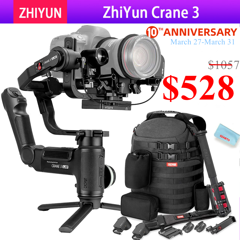 Zhiyun Crane 3 LAB 3-axis Handheld Gimbal Stabilizer For DSLR Canon Nikon Panasonic Cameras,Wireless Image Transmission ViaTouch