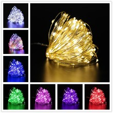 Fairy Lights USB% 2FGarland on Аккумуляторы 10m LED String Lights Waterproof for Outdoor Christmas Lights Wedding Christmas Decoration