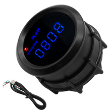 Автомобильный цифровой тахометр 2 дюйма 52 мм Синий цифровой светодиодный 0-9999 об./мин Тахометр