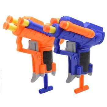 Strzałki z możliwością napełnienia pociski Blasters zabawka dla dzieci pistolet niebieski miękki pocisk pistolety piankowe akcesoria pistolety zabawkowe dwa losowe kolory Dropshipping tanie i dobre opinie CN (pochodzenie) Unisex 3 lat random colors Toy gun