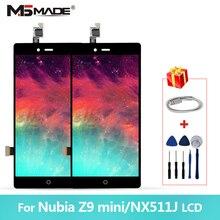 """5,"""" для ZTE Nubia Z9 Mini дисплей NX511J ЖК-экран сенсорный дигитайзер с рамкой для Nubia Z9 Mini NX511J"""
