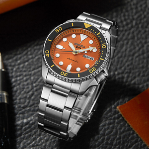 Image 2 - 100% 오리지널 공식 세이코 시계 자동 기계식 다이버 방수 루미 너스 menswatch 아시아