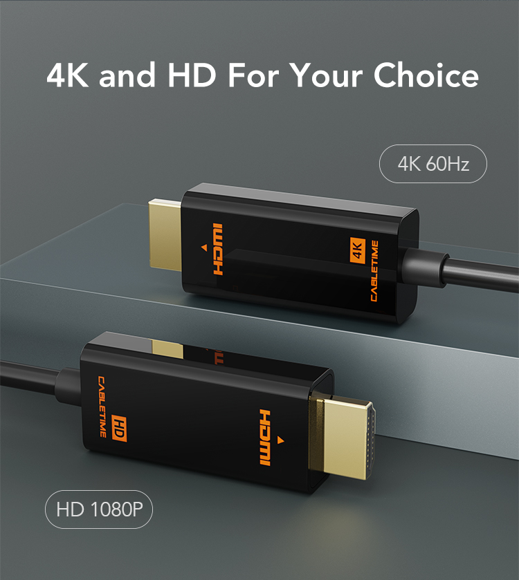 Display Port To HDMI Cable 4k HDMI Cord 1080P/4K 60hz Converter
