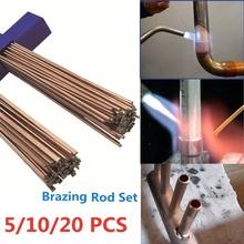 5 sztuk 10 sztuk 20 sztuk pręt lutowniczy mosiądz drut spawalniczy elektrody nie ma potrzeby lutowania proszku pręty spawalnicze cheap M144343 universal welding material 250mm 9 8in 890℃ to 905℃