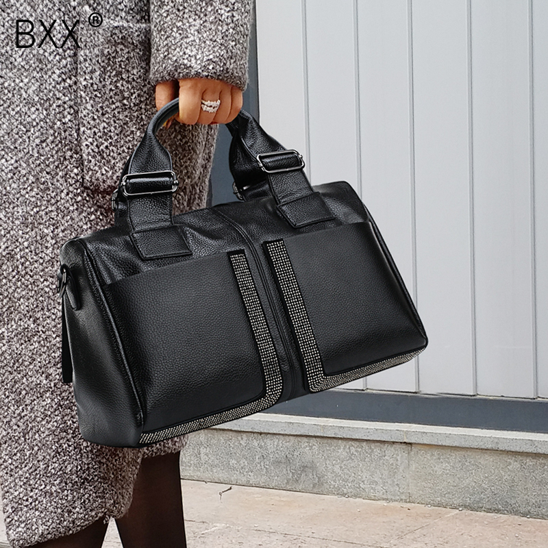 [BXX] Woman Fashion PU Leather Designer Handbags Luxury High Quality Diamonds Lady Shoulder Crossbody Bags Messenger Bag HE248
