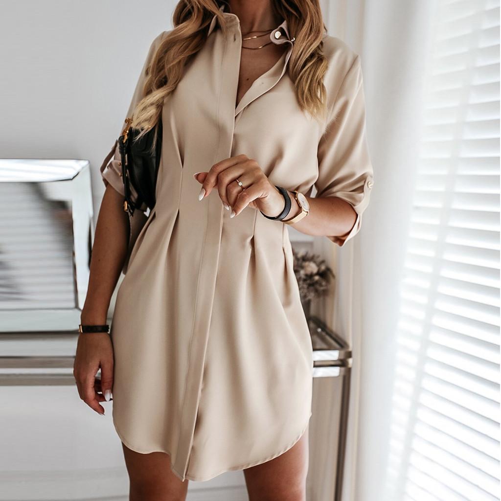 4# Cardigan Dresses Women Long Sleeve Mini Dress Elegant Office Lady Work Dress Leisure Elegant Dresses Vestido De Mulher Платье