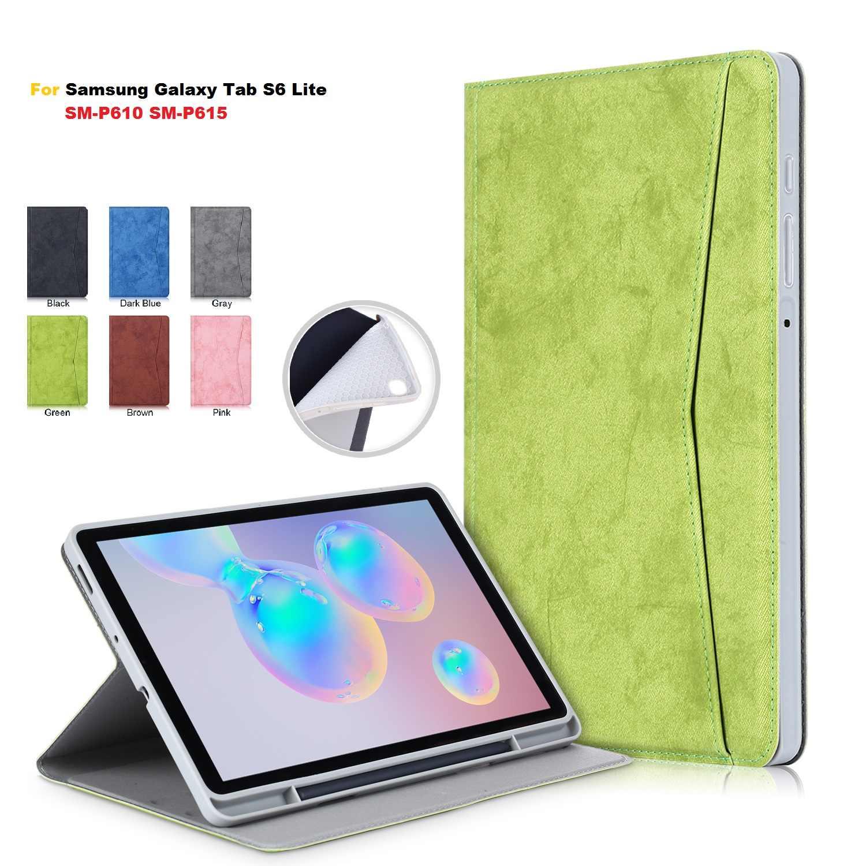 """สำหรับSamsung Galaxy Tab S6 Lite 10.4 """"SM P610 P615 กรณีผู้ถือดินสอพับสำหรับsamsung Tab S6 Lite"""