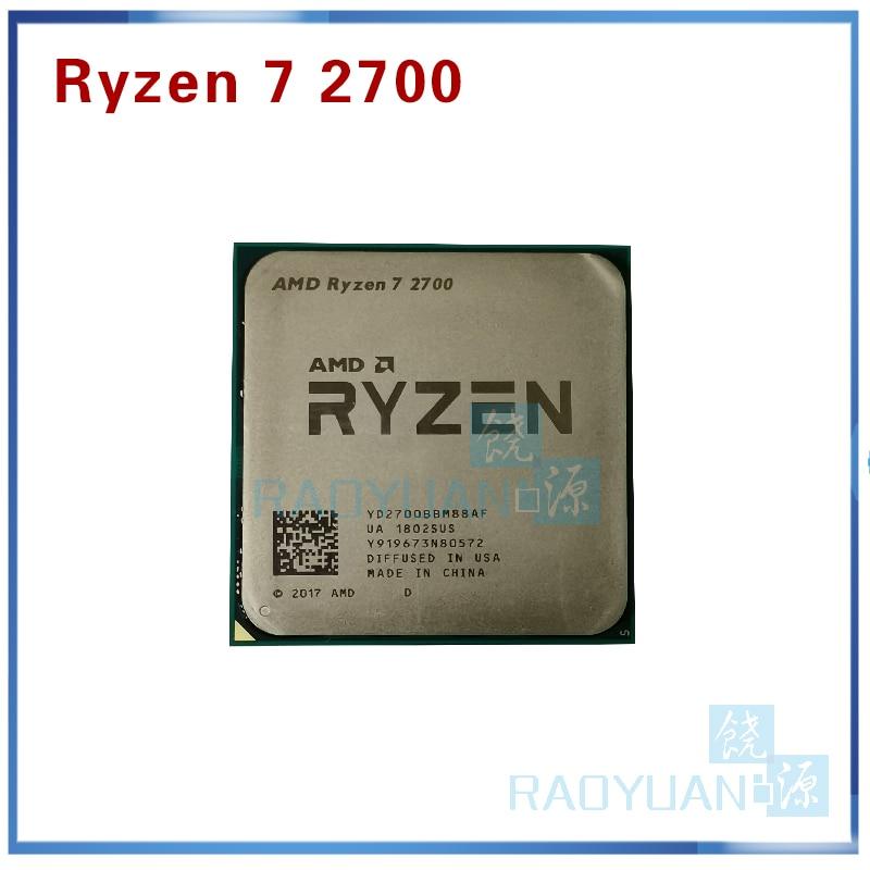 AMD Ryzen 7 2700 R7 2700 3.2 GHz Eight-Core Sinteen-Thread 16M 65W CPU Processor YD2700BBM88AF Socket AM4