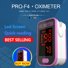 PR + MISE F4 cutepink אצבע דופק Oximeter, לב קצב ב 1 דקות לב קצב דם חמצן SPO2 CE אישור
