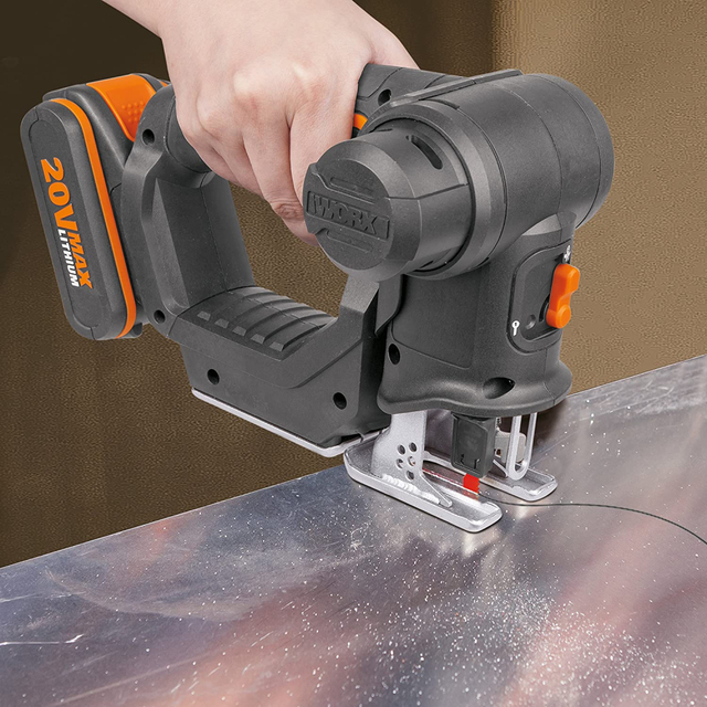 Worx 20V Electric Saw WX550 Cordless Reciprocating Saw jigsaw 2in1 Rechargeable Scroll Saw Multi purposed saw Handheld PowerTool 5
