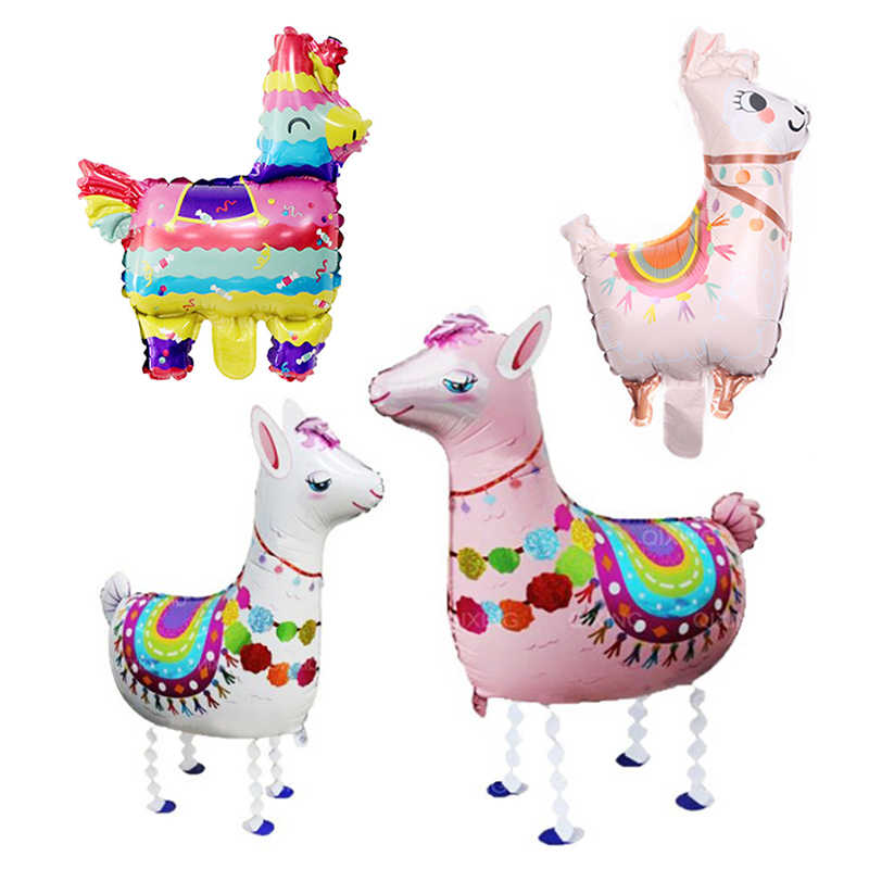 1pcs/lot Lama Alpaca foil balloon happy birthday animal balloon kids birthday party decor baby shower party supplies kids toy