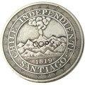 Чилийское песо 1819 Посеребренная копия монеты