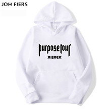 2019 Brand New Fashion Purpose Tour Men Sportswear Print Hoodies Pullover Hip Hop Mens tracksuit Sweatshirts Clothin