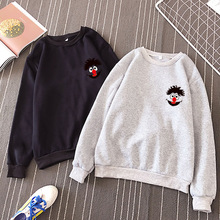 Milinsus Autumn Winter 2019 New Women Cute Cartoon Pattern Print Pullover Couple Clothes Female Loose Casual Harajuku Sweatshirt