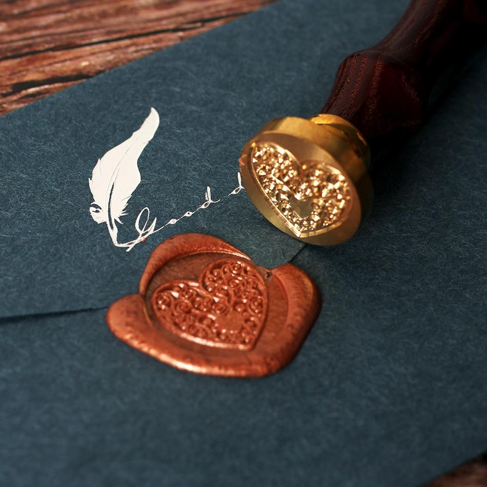 Patrón de árbol sello y estampas de cera madera antiguo