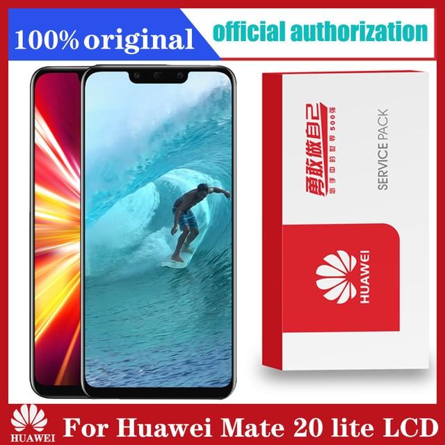 Оригинальный дисплей 6,3 дюйма с рамкой для замены для Huawei Mate 20 Lite, ЖК дисплей с сенсорным экраном и дигитайзером в сборе Mate20 Lite