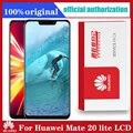 Original 6.3 ''Display mit Rahmen Ersatz für Huawei Mate 20 Lite LCD Touch Screen Digitizer Montage Mate20 Lite
