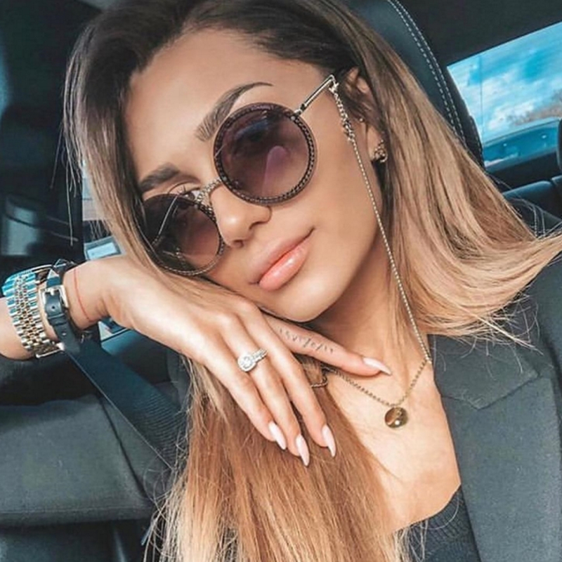 2019 New Luxury Sunglasses Women Rimless Round Glasses Ladies Elegant Female Eyewear Round Gafas De Sol Mujer UV400