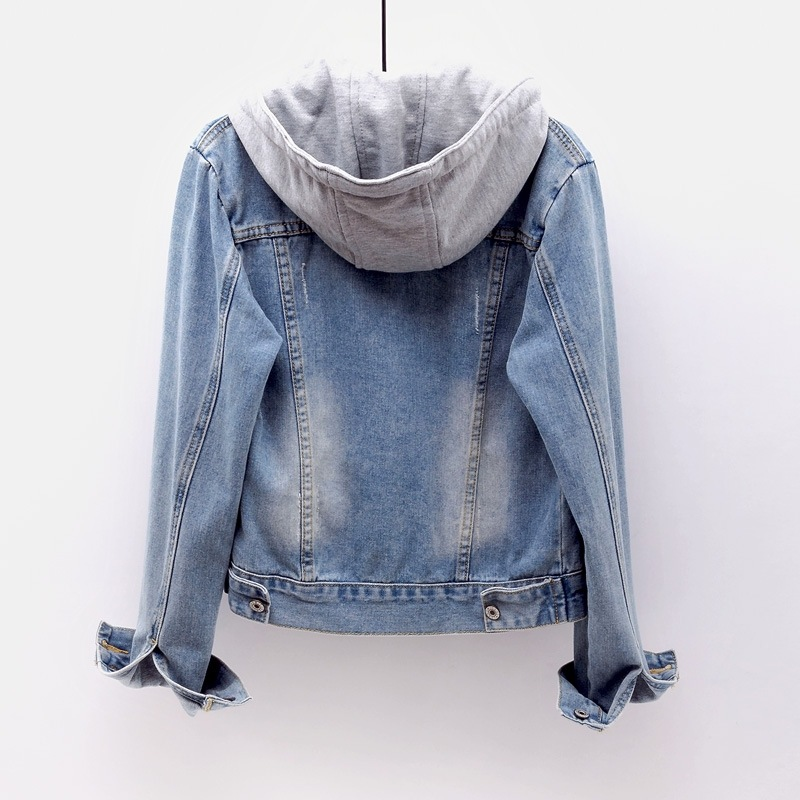 Hot DealsöOuterwear Coats Jeans Jacket Windbreaker Hooded Basic Boyfriend Ripped Vintage Plus-Size
