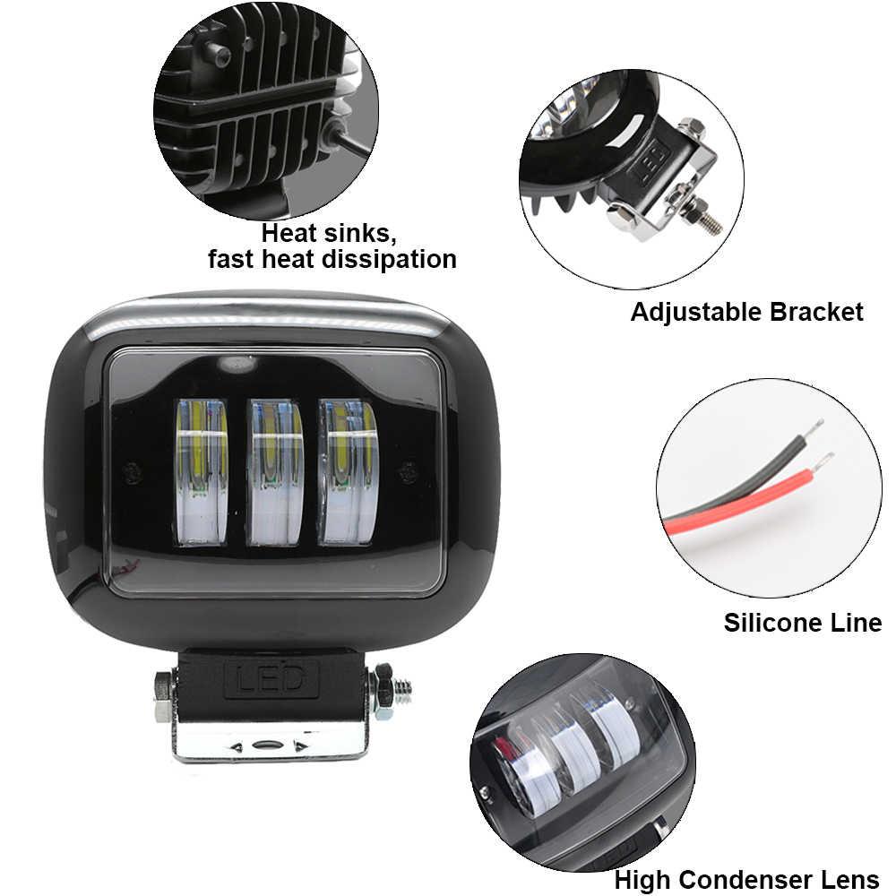 2 sztuk/1 Pc plac Led światło robocze reflektor samochodowy światła przeciwmgielne 12V dla SUV wodoodporna Off motocykl szosoway Auto pracy światła do jazdy