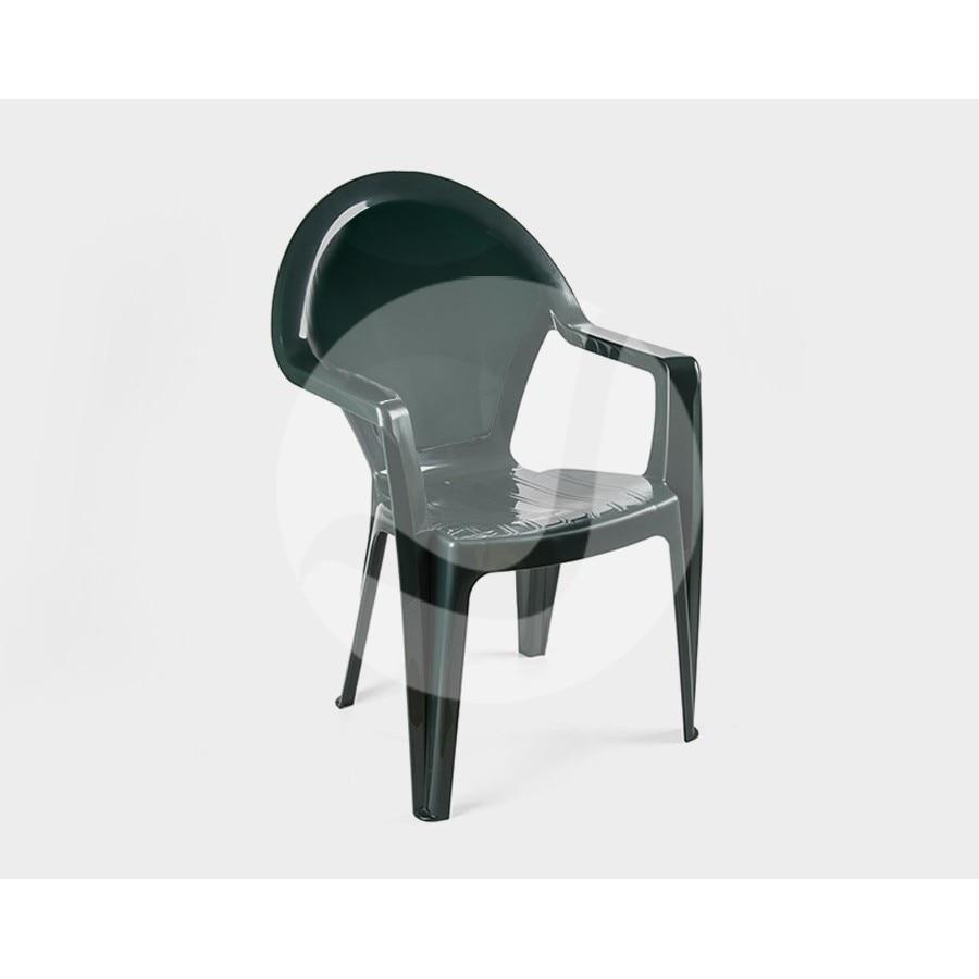 Armchair CLS, Monoblock, Stackable, Green