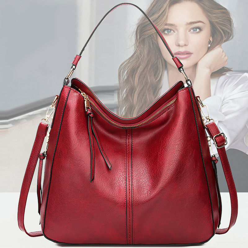 Women Genuine Leather Handbag 2020 New Messenger Bag Fashion Big Crossbody For Laptop