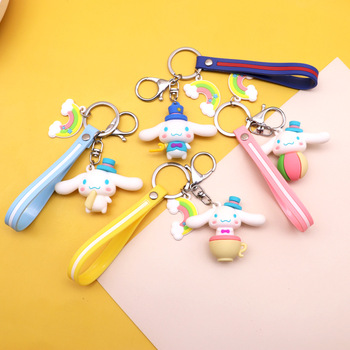cute cartoon big-eared dog keychain for women handbag pendant girl bag charm ornament trend creative gifts Cars Keyring 2020 image