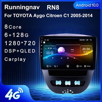 4G LTE Android 10 1 dla Peugeot 107 Toyota Aygo 2005-2014 multimedialne Stereo samochodowy odtwarzacz DVD odtwarzacz Radio nawigacja GPS tanie i dobre opinie Runningnav CN (pochodzenie) podwójne złącze DIN NONE 256G JPEG detail 1024*600 2 5kg Nadajnik FM Tuner radiowy Wbudowany GPs