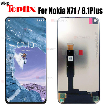 6.39''For Nokia X71 LCD Display TA-1188 TA-1167 Touch Panel Screen Digitizer Assembly Replacement For Nokia 8.1 Plus LCD Displas