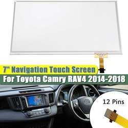7 ''dotykowy nawigacji digitalizator do szkła ekranu ekran dotykowy Panel dla Toyota Camry RAV4 2014 2015 2016 2017 2018 C070VTN01.0 S503|Monitory samochodowe|   -