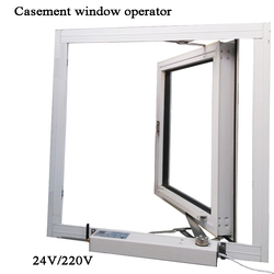 Casement window opener motor actuator Automatic close/open Skylight/Greenhouse Inward open window operator Wifi Tuya DC 24V 220V