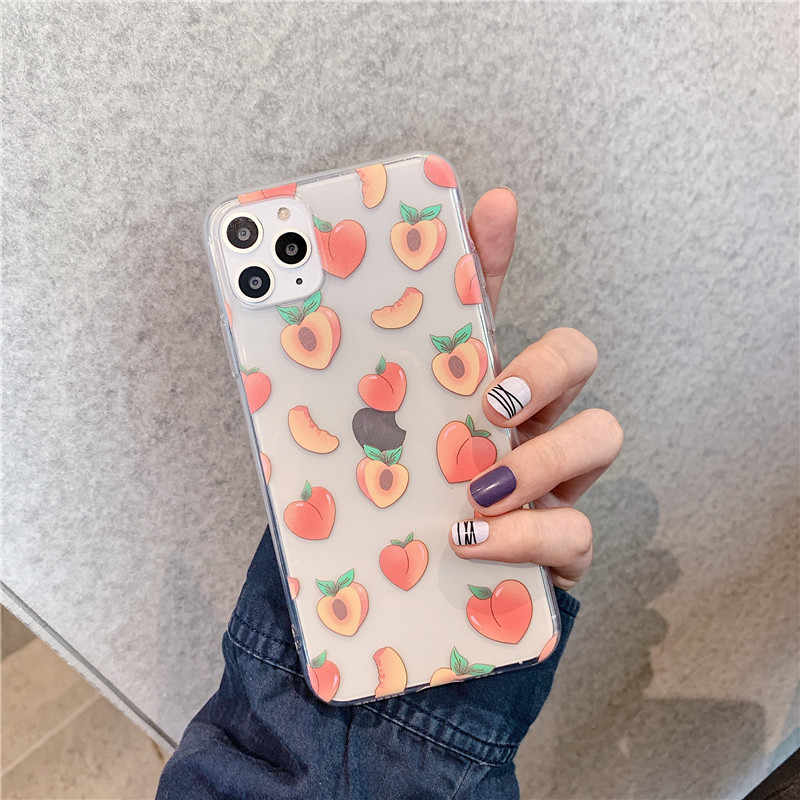 Cute Peach Phone Case For Huawei P20 Lite P30 Pro Mate 20 30 P smart y9 For Honor 7A 8A 8X 10 20 v20 Nova 3 4 5 Soft Back Cover