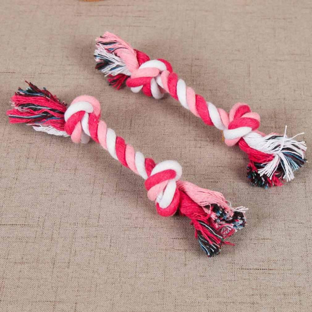 ペットのおもちゃ綿ロープ一口にくい子犬モルノットロープのおもちゃ小型犬の訓練インタラクティブノット玩具