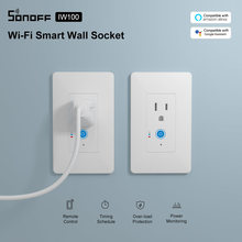 SONOFF IW100/IW101 US Wifi Smart Wall Socket Switch 15A Wireless Power Monitoring Switches eWeLink App Control For Alexa Google(China)