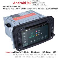 Android 2Din Car Radio For Mercedes Benz CLK W209 W203 W208 W463 Vaneo Viano Vito BT SD GPS Navigation Car Multimedia DVD Player