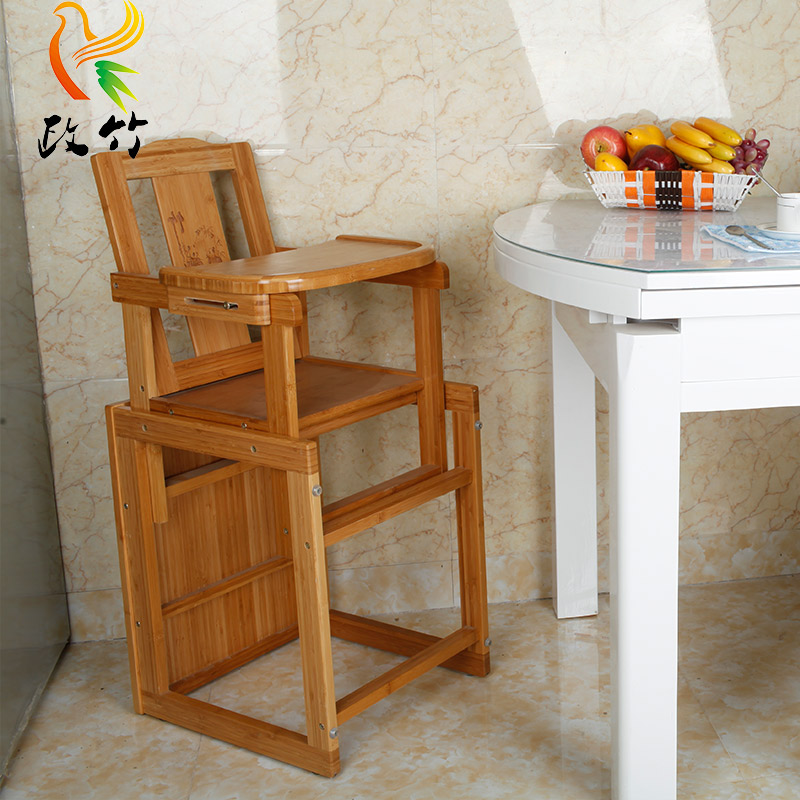 Children's Environmental Protection Infant Dining Table And Chair Hotel Baby Solid Wood Baby Dining Chair Bb Stool Chair